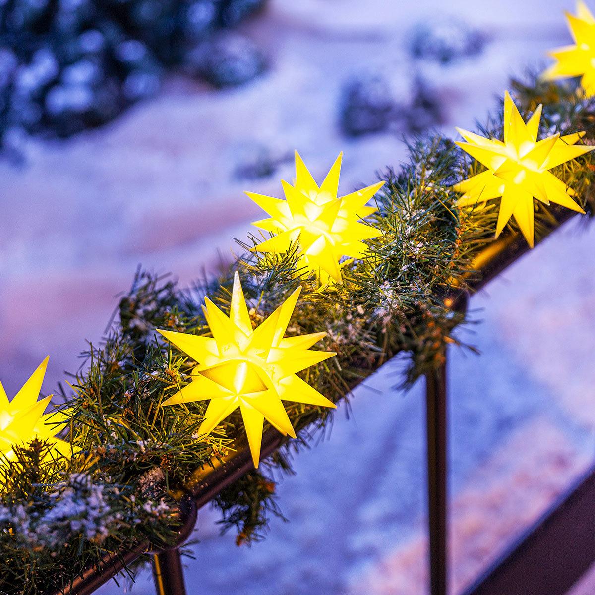 LED-Lichterkette Weihnachtstern, gelb