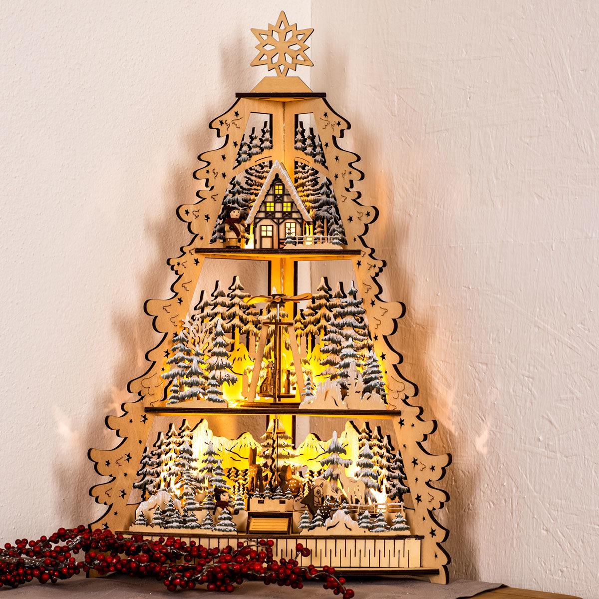 3D Weihnachtsberg mit LED-Beleuchtung