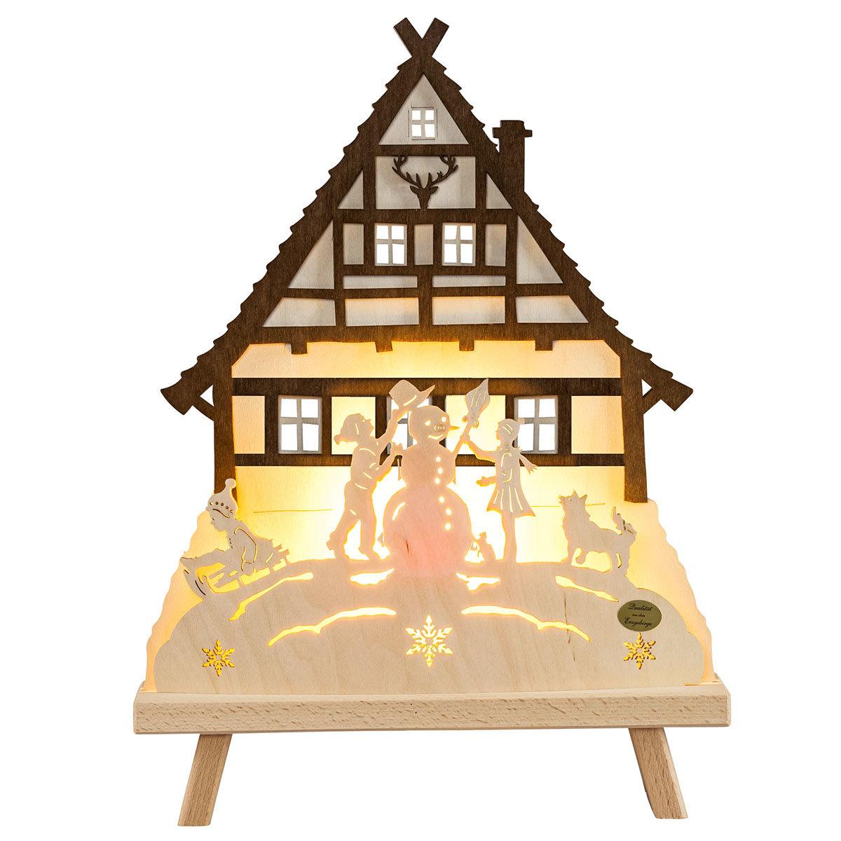 "LED-Dekoleuchte ""Waldhaus"""