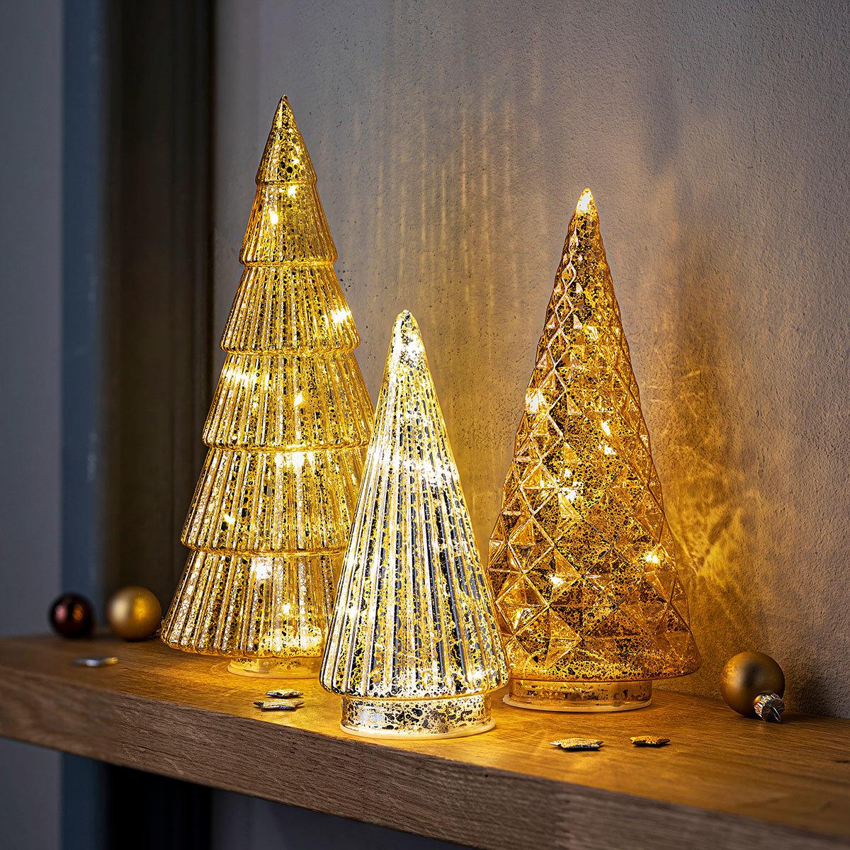 """LED-Tannen """"Sparkle"""" 3-er Set"""