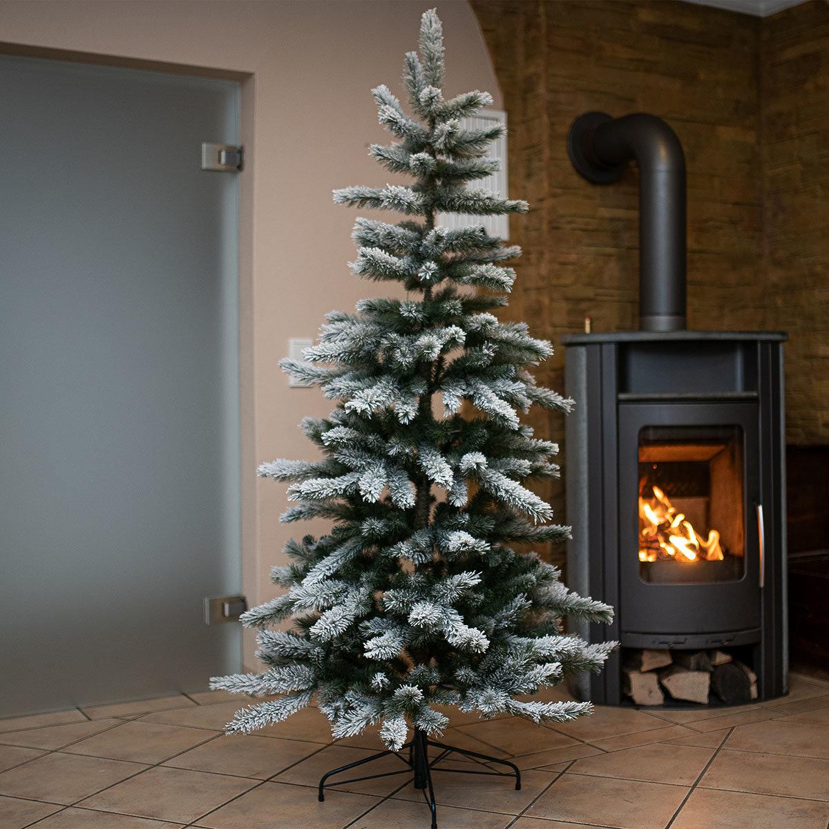 Künstlicher Weihnachtsbaum Kiefer mit Schneeoptik, 210 cm