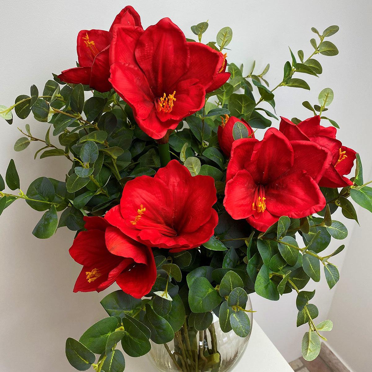 Kunstpflanze Amaryllis, rot