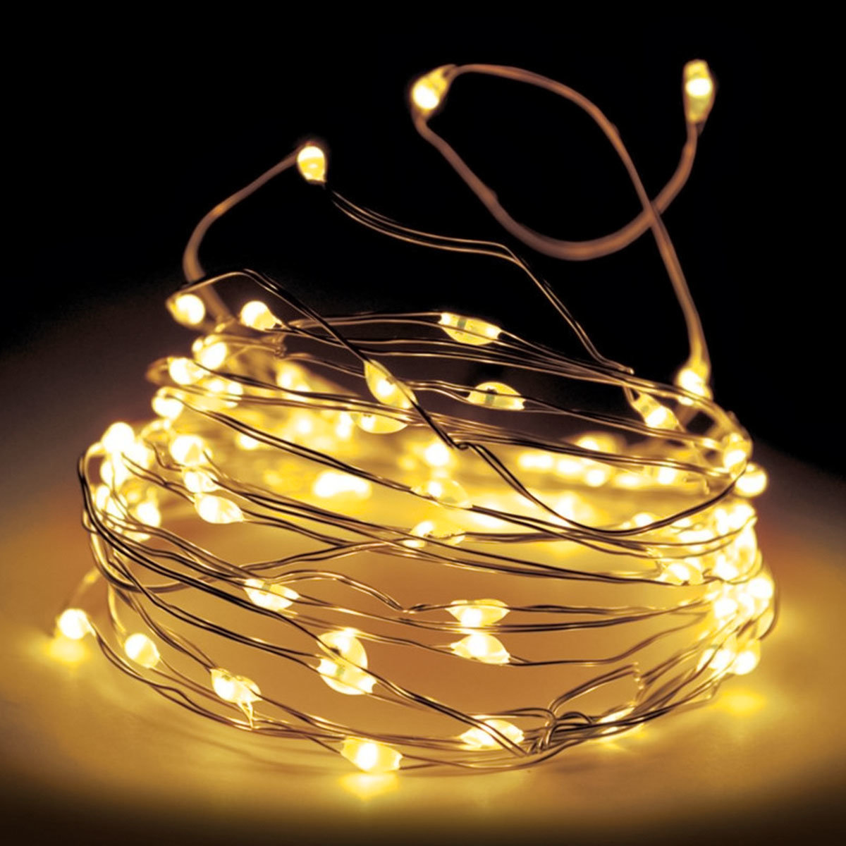 LED-Silberdraht, weiß