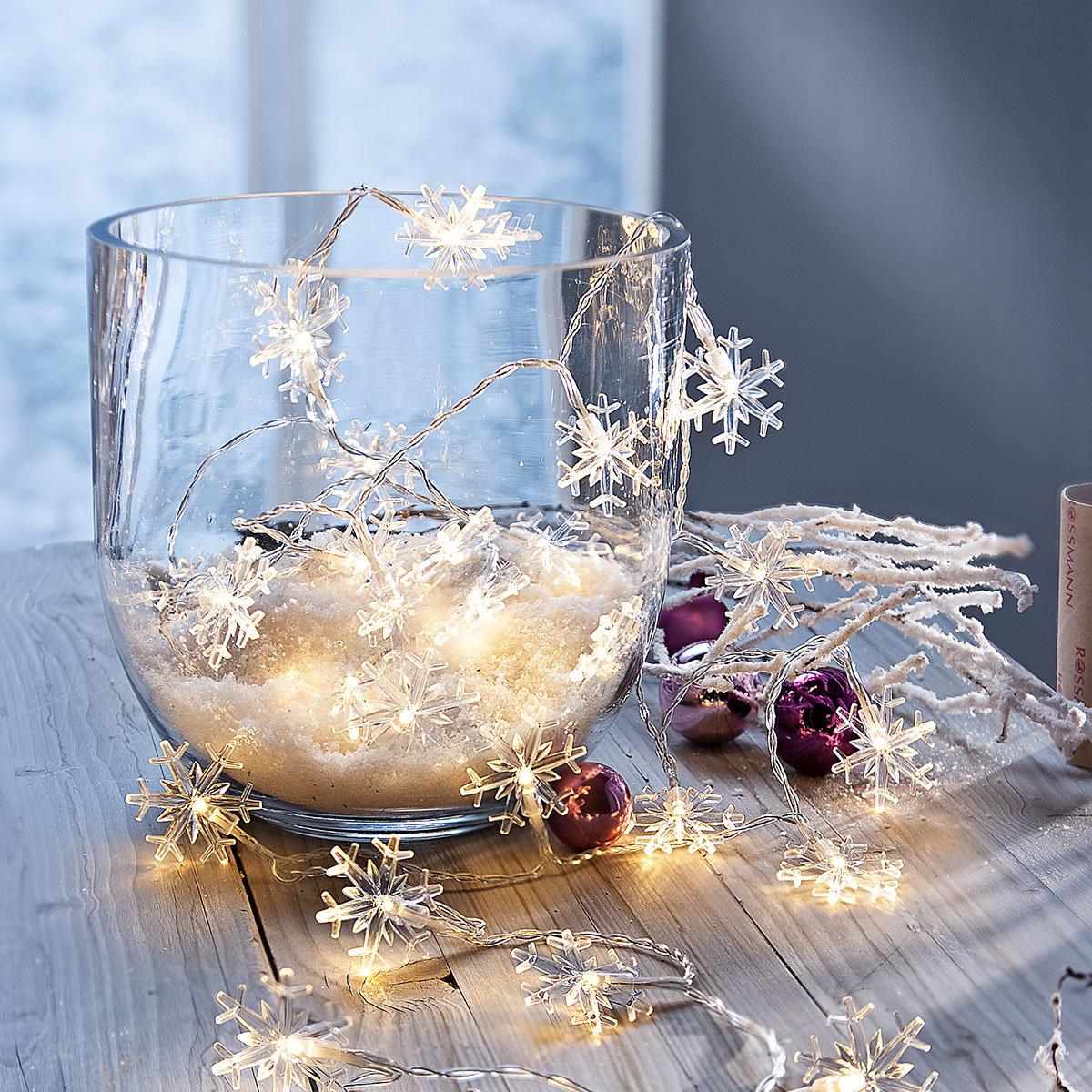 LED-Lichterkette Eiskristalle, 240cm
