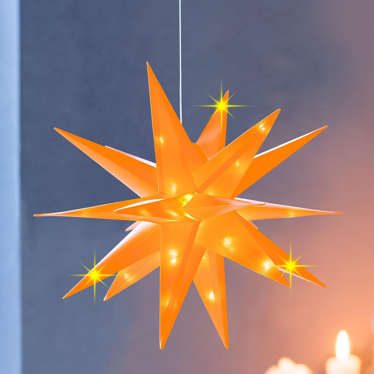 LED-Stern Xmas 12 cm, Orange