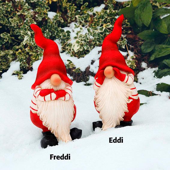 Weihnachtswichtel Eddi + Freddi, 2er-Set