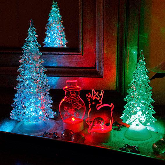 LED-Winterlandschaft, 4er-Set