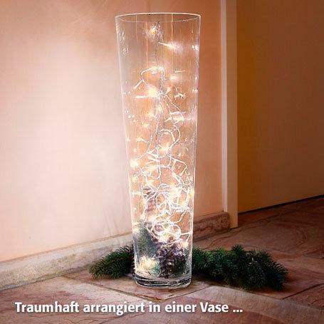 80er-LED-Außenlichterkette für Vasen & Kugeln