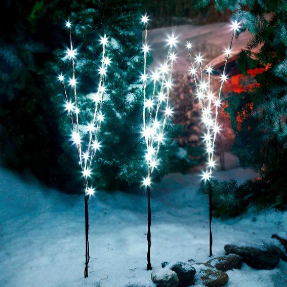 LED-Leuchtzweige Sternennacht, 3er-Set