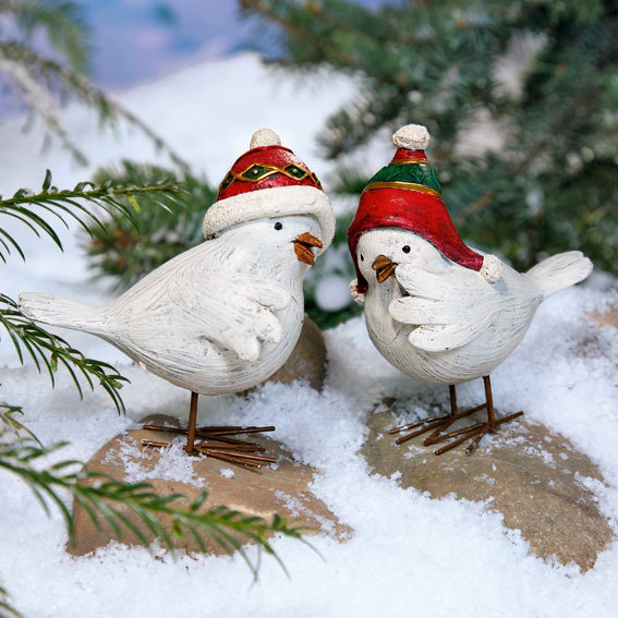 Wintervögel Piep & Matz, 2er-Set