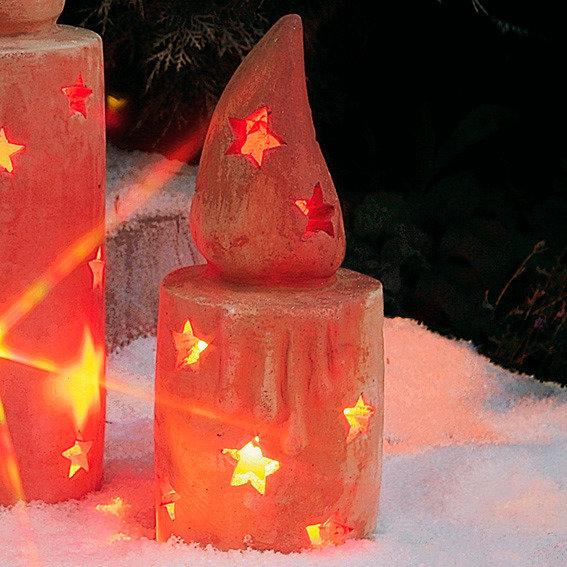 Terracotta-Kerze, klein
