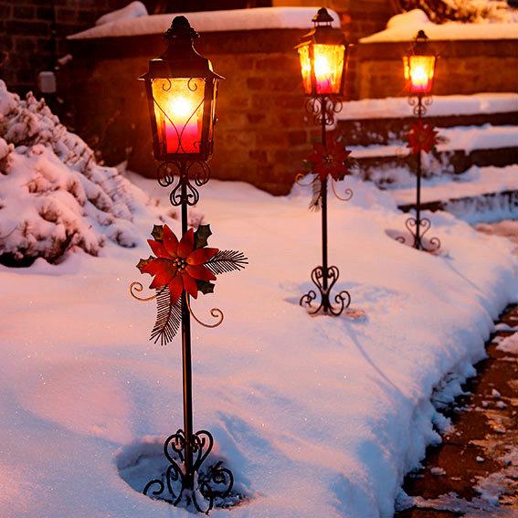 Weihnachts-Laterne Nostalgie, 3er-Set
