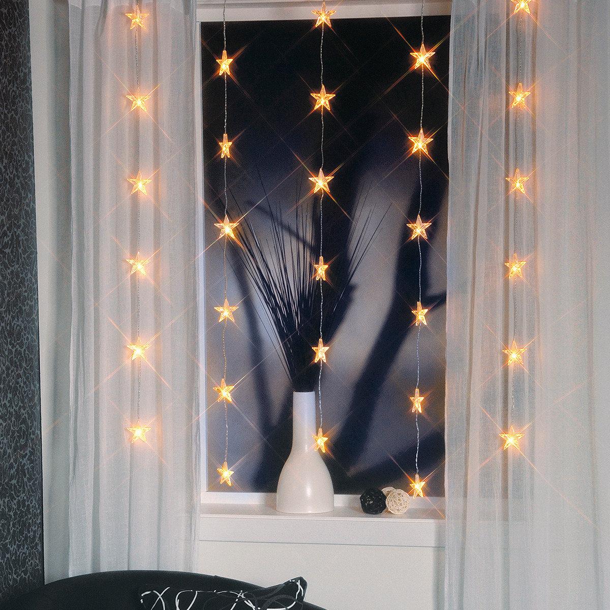 LED-Lichtervorhang Himmelssterne, 30 LEDs