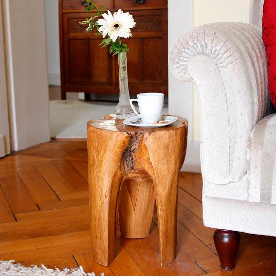 TEAK-Beistelltisch Wood Art
