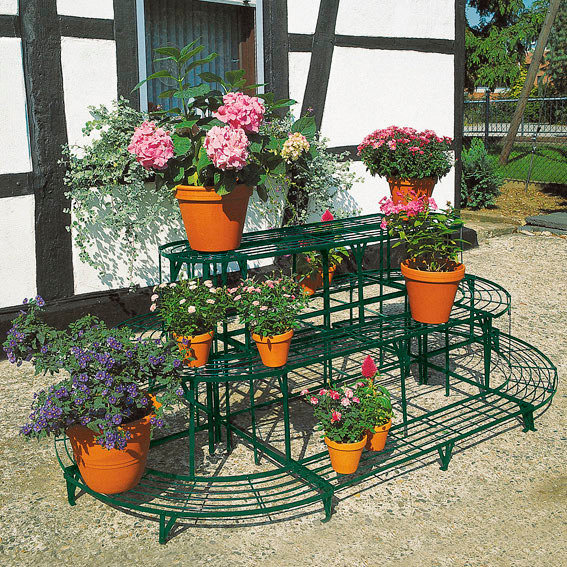 Blumentreppen-Kombi-Set, oval, grün