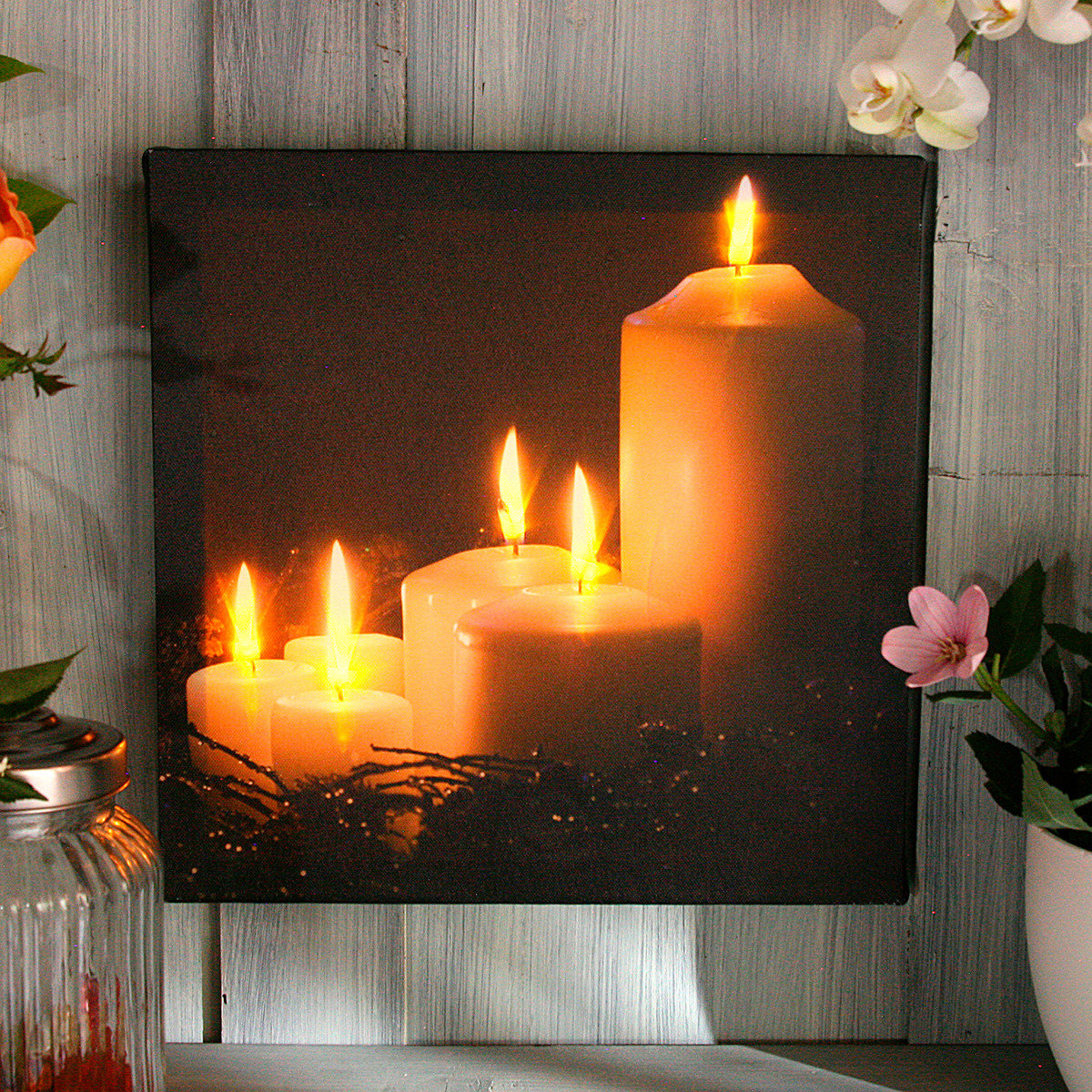 LED-Bild Kerzenromantik