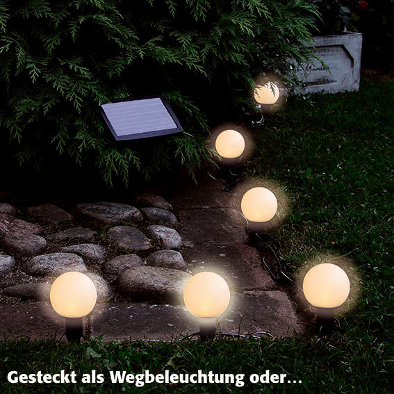 LED Solar-Lichterkette Big Balls, 6-teilig