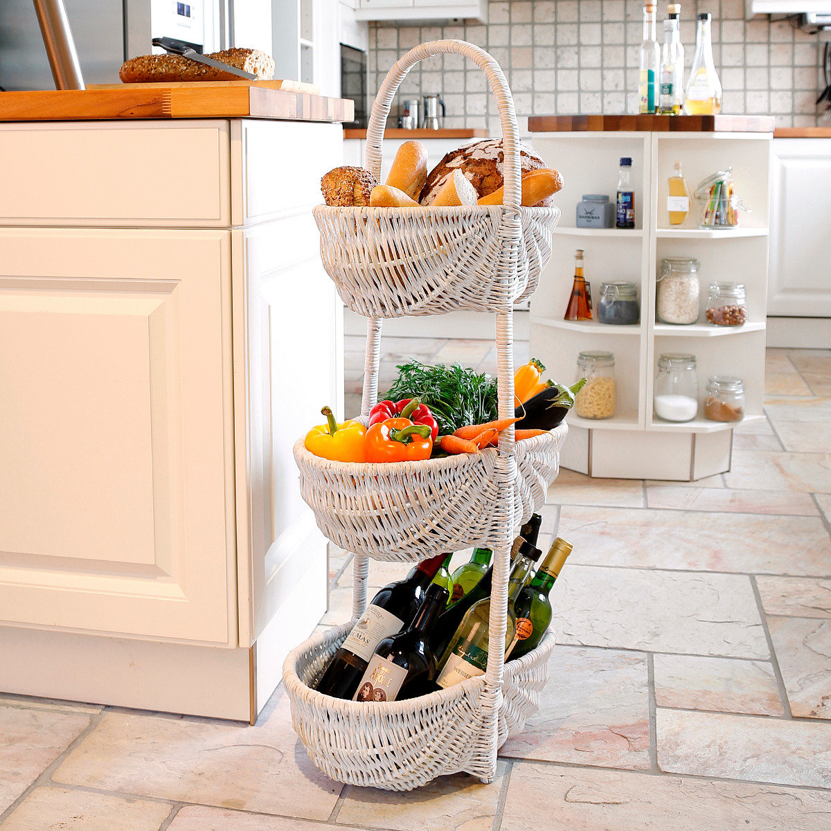 Korbständer Cottage Kitchen