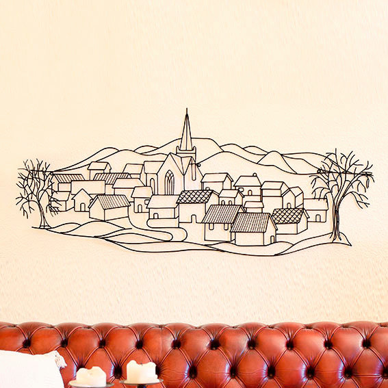 Wandbild Dorf-Idylle