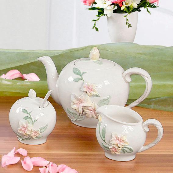 Kaffee-Set Blumenpracht, 3-teilig