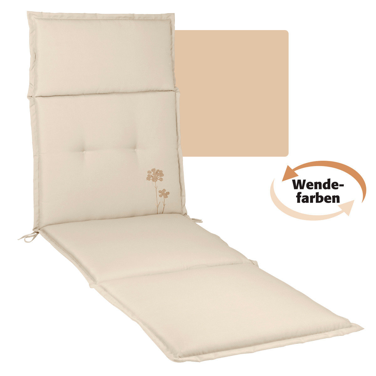 Deckchairauflage Samba Anisa, sand/beige