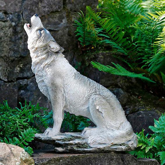 Gartenfigur Heulender Wolf