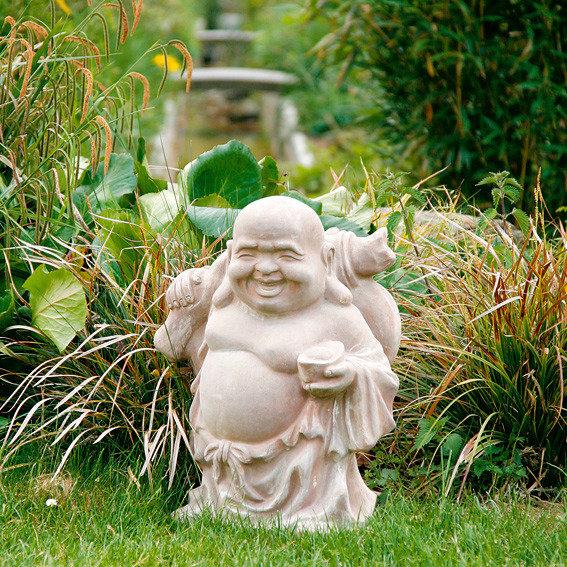 Terracotta-Figur Crazy Buddha