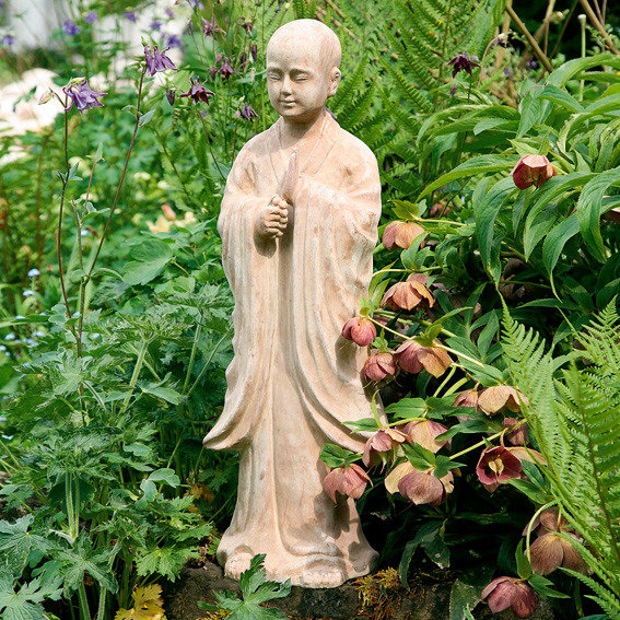 Terracotta-Gartenfigur Mönch Tongmao