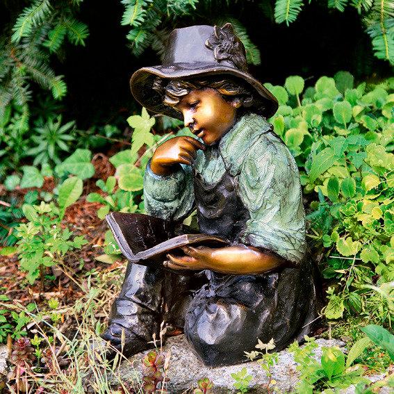 Garten Bronze Figur Lesender Richard Von G Rtner P Tschke