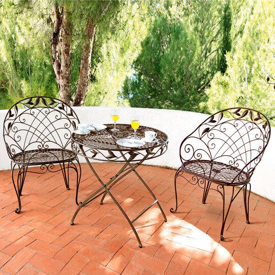 Sitzgruppe Chantilly (1Tisch + 2 Stühle)