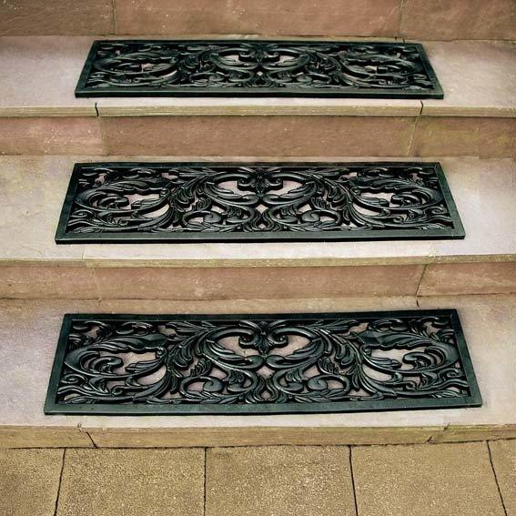 Treppenstufen-Matten, rechteckig, 3er-Set