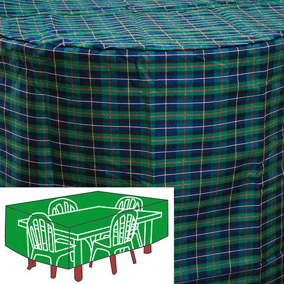 Sitzgruppen-Schutzhülle, grün, rechteckig, groß