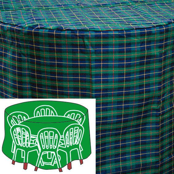 Sitzgruppen-Schutzhülle, grün, rund, groß