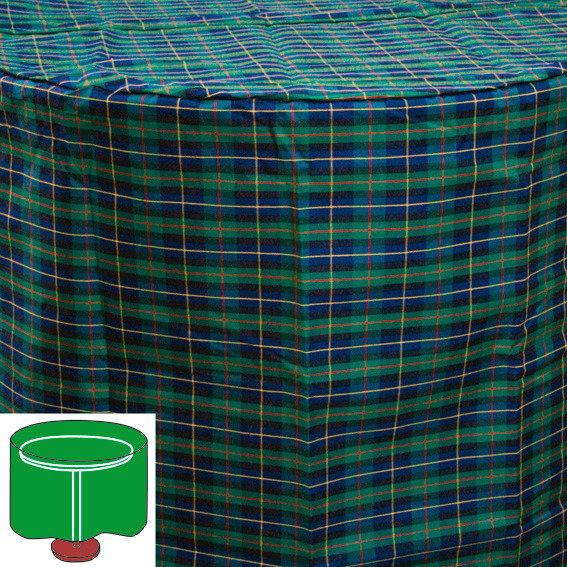 Tisch-Schutzhülle, grün, rund, klein