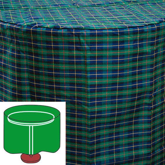Tisch-Schutzhülle, grün, rund, groß