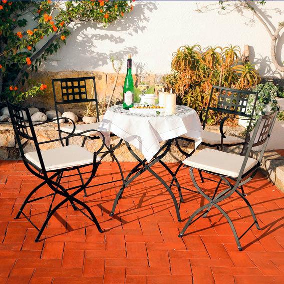 klappstuhl casablanca mit armlehne 2er set von. Black Bedroom Furniture Sets. Home Design Ideas