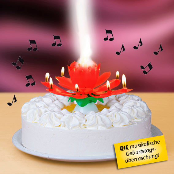 Musikalische Wunderkerze Happy Birthday