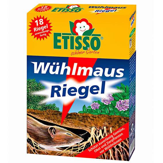Etisso® Wühlmaus-Riegel, 18 x 10 g (18 Riegel)