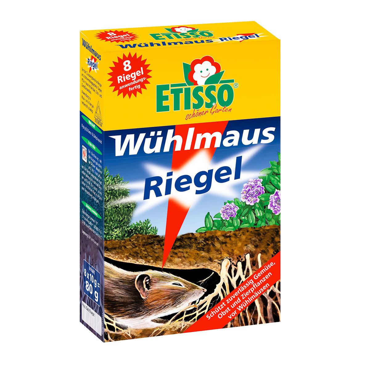 Etisso® Wühlmaus-Riegel, 8 x 10 g (8 Riegel)