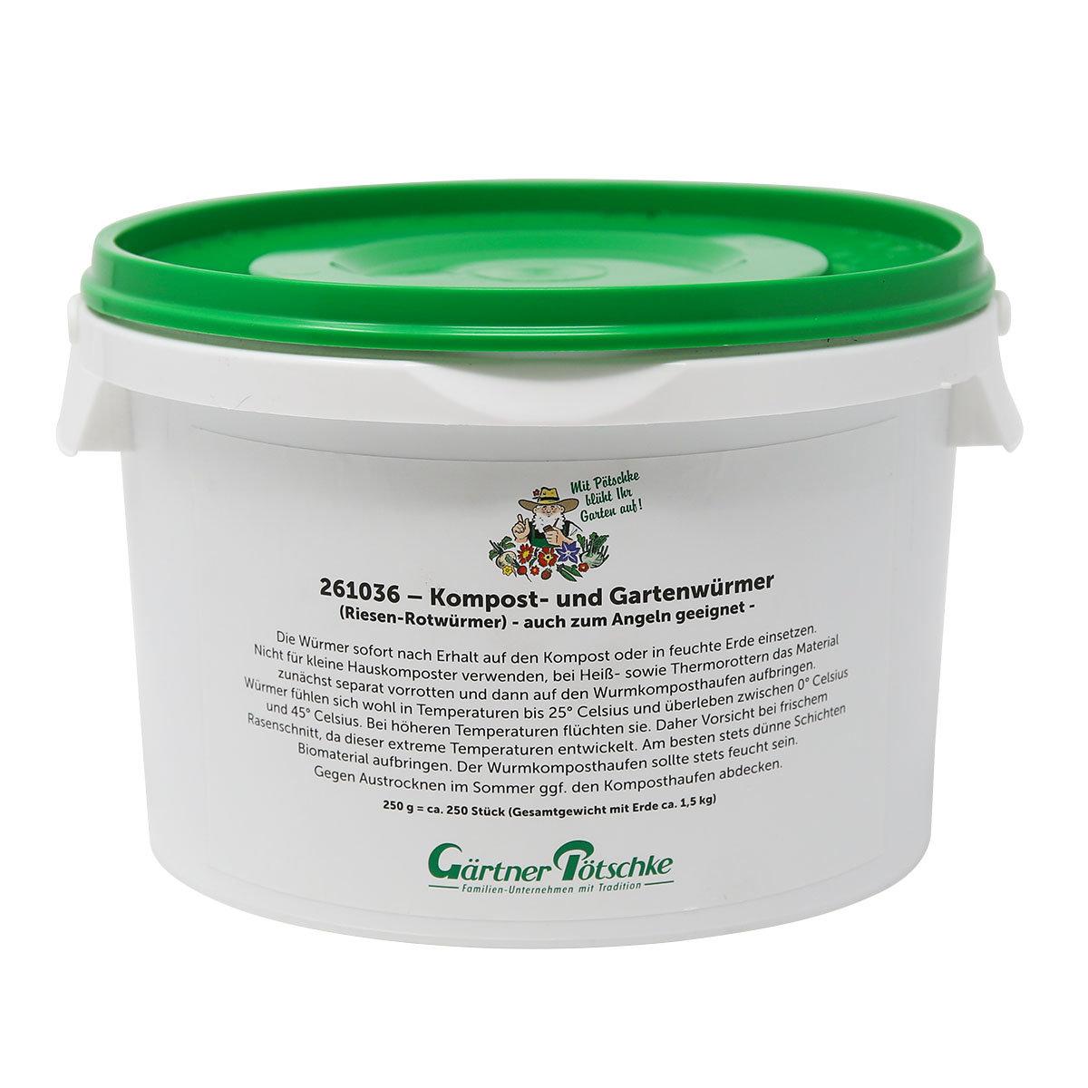Kompost- und Gartenwürmer, 250 g