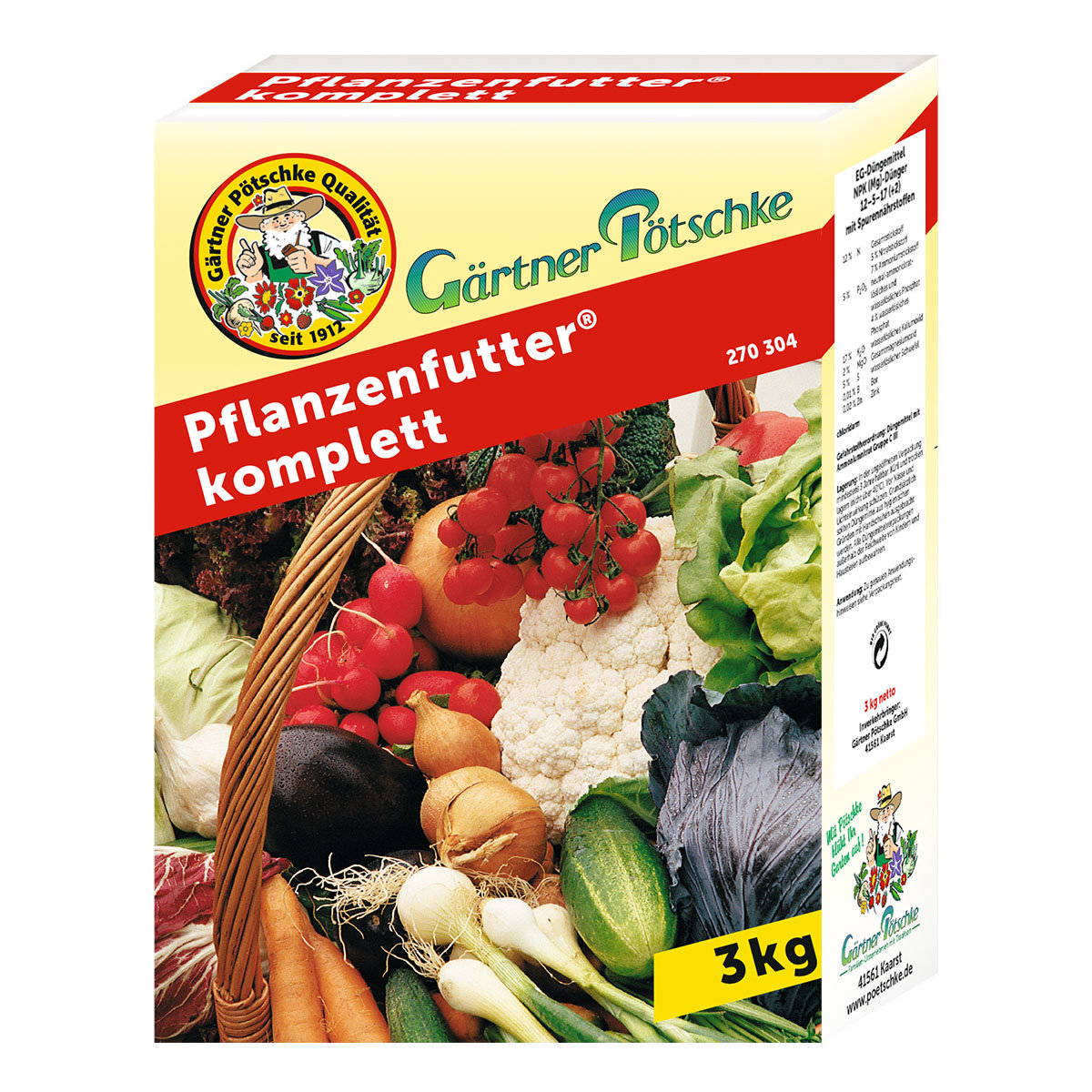 Gärtner Pötschke Pflanzenfutter komplett, 3 kg