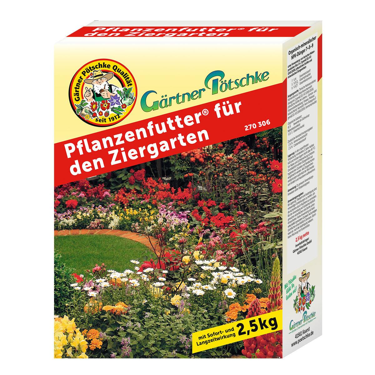 Pflanzenfutter für den Ziergarten, 2,5 kg