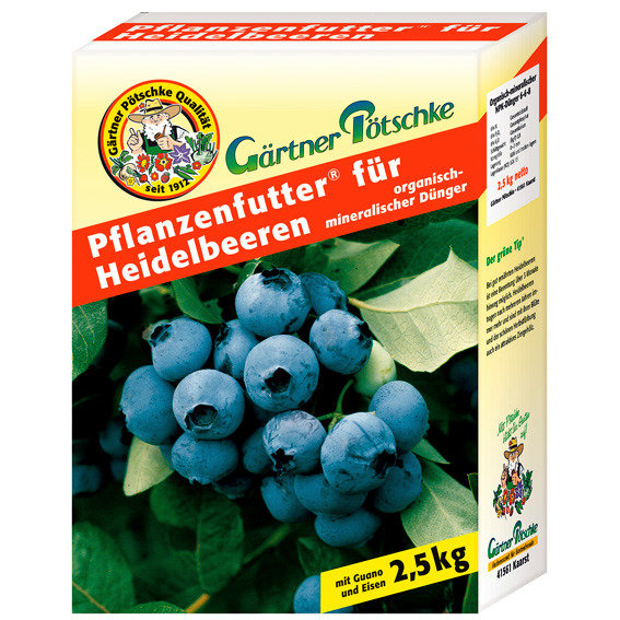 Gärtner Pötschke Pflanzenfutter für Heidelbeeren, 2,5 kg