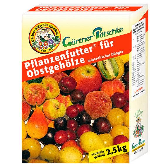 Gärtner Pötschke Pflanzenfutter für Obstgehölze, 2,5 kg