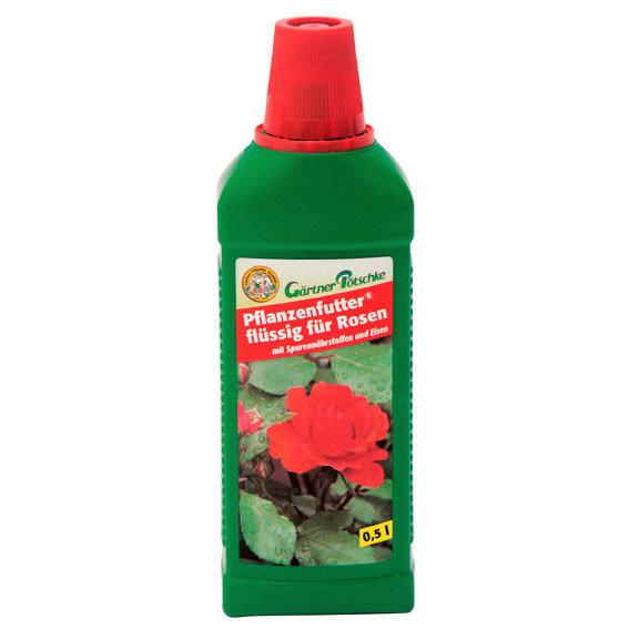 Gärtner Pötschke Pflanzenfutter flüssig für Rosen, 500 ml