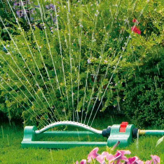 Garten-Viereckregner inkl. Wassertimer