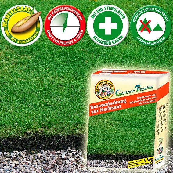 Gärtner Pötschkes Rasen-Mischung zur Nachsaat, 1 kg