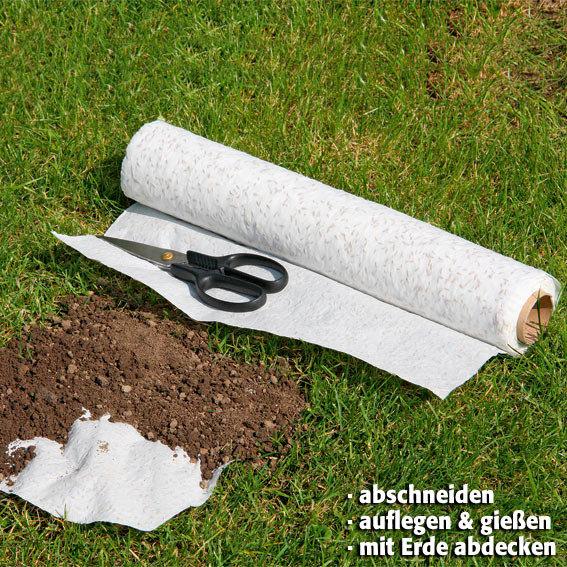 Rasen-Reparatur-Set, 2 Saatscheiben und 1 Saatteppich