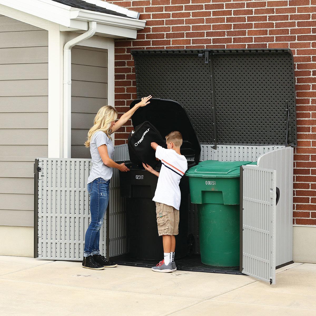 Gerätebox-Mülltonnenbox, 132x191x108 cm, grau | #10