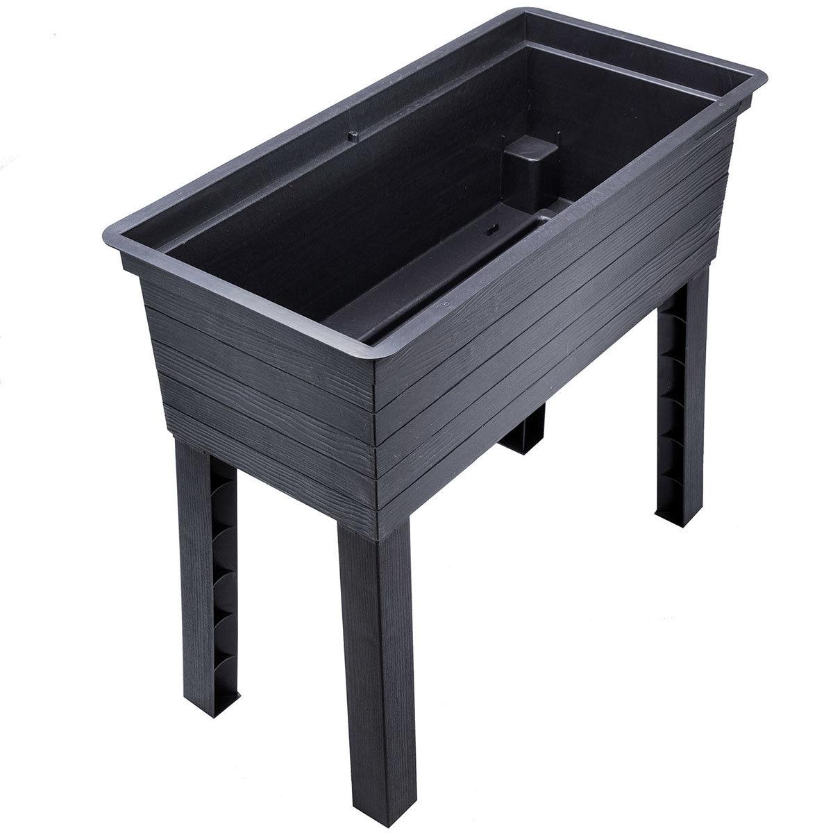 GARANTIA URBAN Balkon-Hochbeet inkl. Anzuchthaube, Kunststoff, schwarz/transparent, 75x37x87 cm | #10